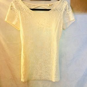 Lace, Open-Back Summer Top